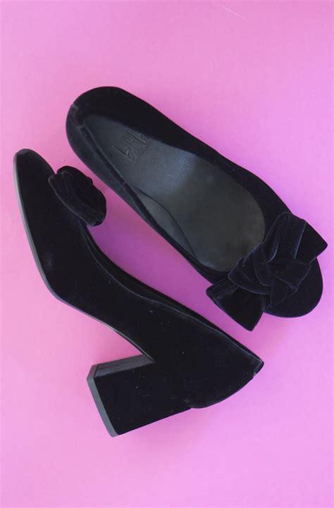 Wedges Bara Bara L530all Colour 36 40 billi bi sammets sko med rosett plain vanilla ab