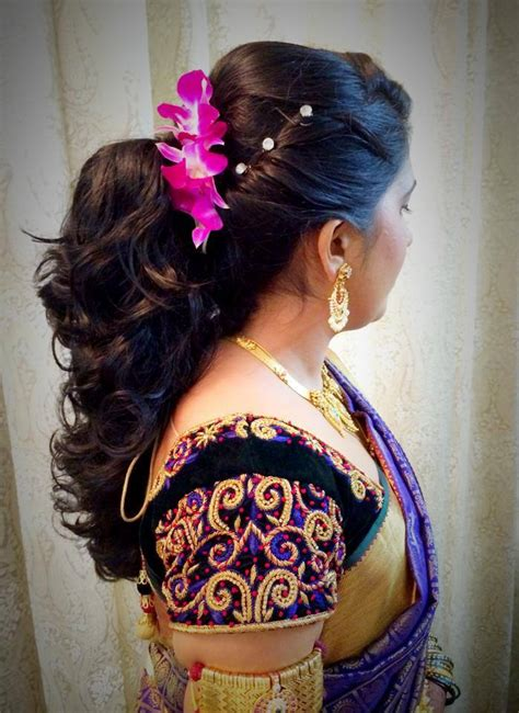 Wedding Hairstyles Up For Ceremony For Reception by Indian S Bridal Reception Hairstyle By Swank Studio