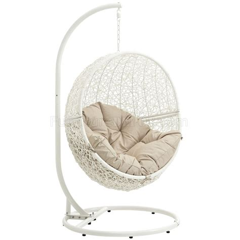 hide outdoor patio swing chair white  modway choice  color