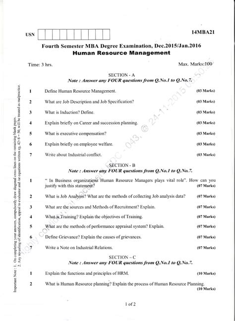 2015 16 Mba 4 Semester Solved Paper by 4th Semester Mba Dec 2015 Jan 2016 Question Papers