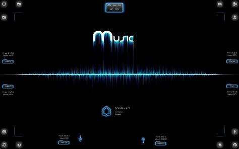 themes for windows 7 rock spectrum music rainmeter theme for windows7