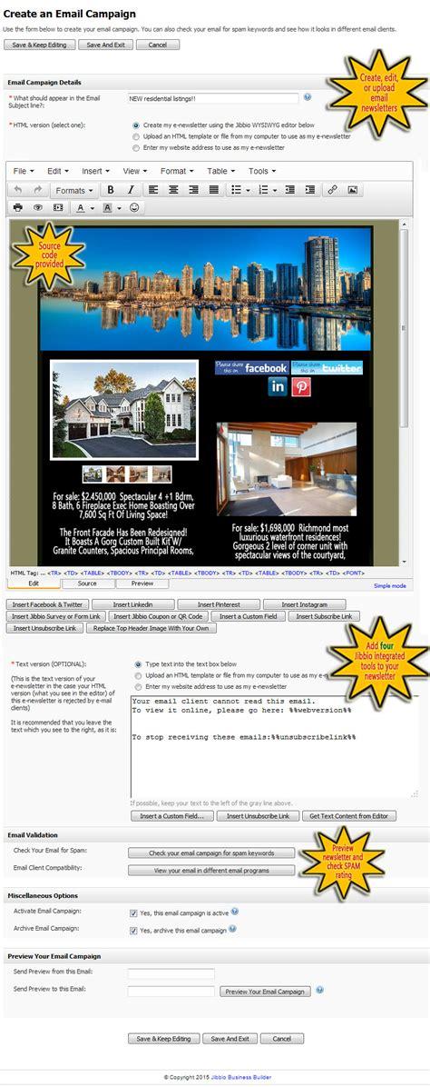 html newsletter design software jibbio business builder email and newsletter marketing