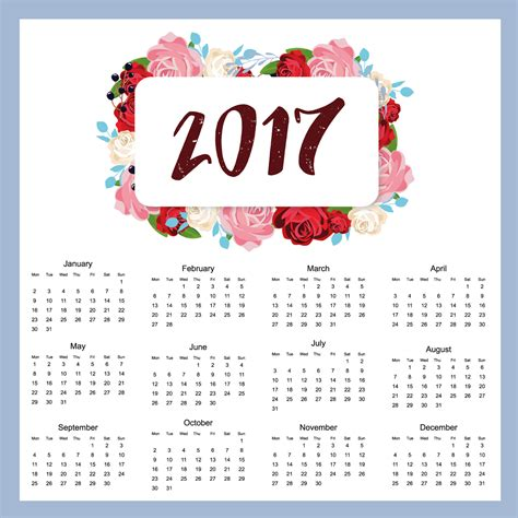 New Year Calendar 2017 2017 Year Calendar Wallpaper Free 2017 Calendar