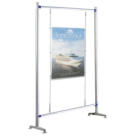 Floor Standing L by Floor Standing A1 Poster Cable Display Stand