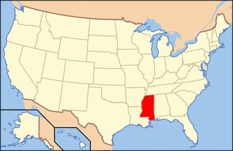 mississippi in usa map map of usa ms mapsof net