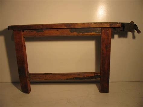 Primitive Industrial Workbench Console Table At 1stdibs Primitive Sofa Table