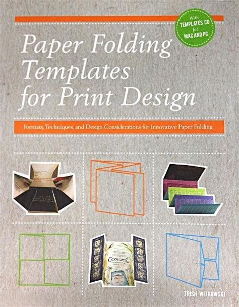 Paper Folding Templates For Print Design - paper folding templates for print design formats