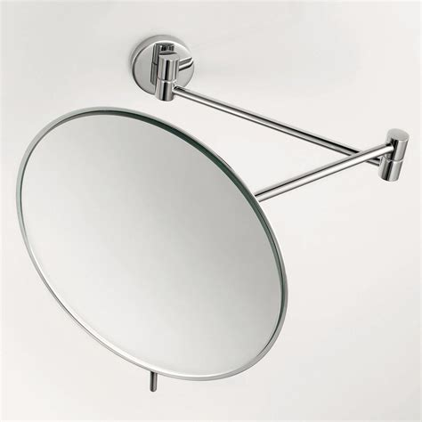 Magnifying Bathroom Mirrors Wall Mounted Shop Ws Bath Collections Mirror Chrome Magnifying Wall Mounted Vanity Mirror At Lowes