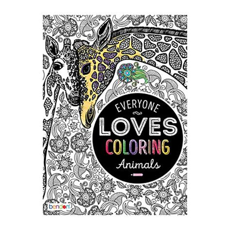 bendon coloring books bendon coloring book animals by office depot officemax