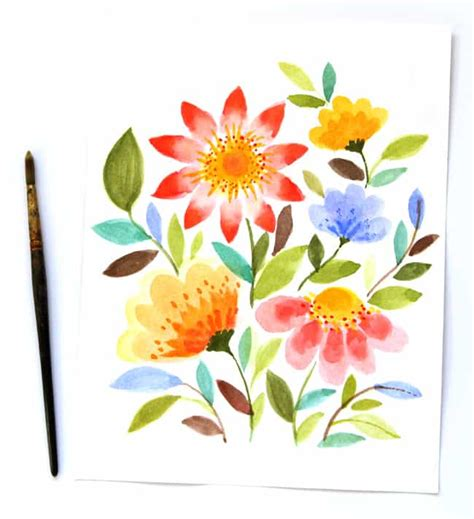 easy painting flower designs paint watercolor flowers in 15 minutes