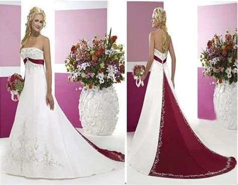 wedding dresses color beaded bridal gowns with color