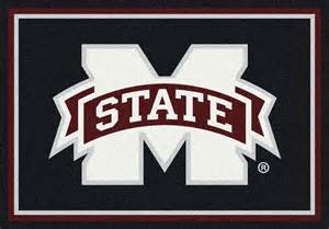 Rugs Rats Buy Mississippi State University Bulldogs Logo Rugs Online