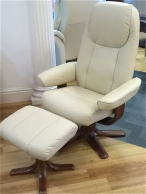 Childrens Leather Chair And Footstool Elano Oslo Recliner Swivel Chair And Stool 163 604