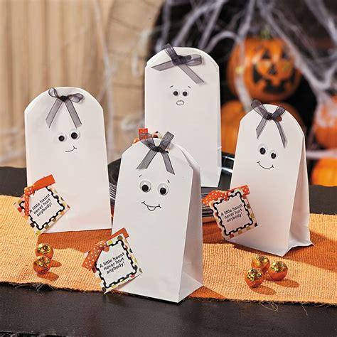 treat bag ideas diy ghost treat bags orientaltrading