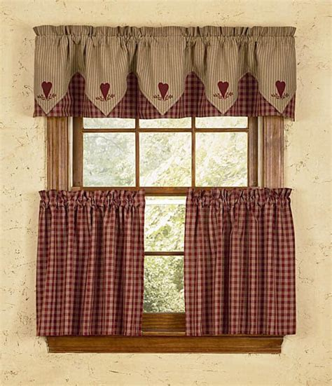 wine curtains valances wine heart embroidered lined point curtain valances