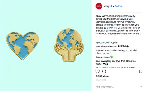 ebay instagram earth day marketing brands and influencers