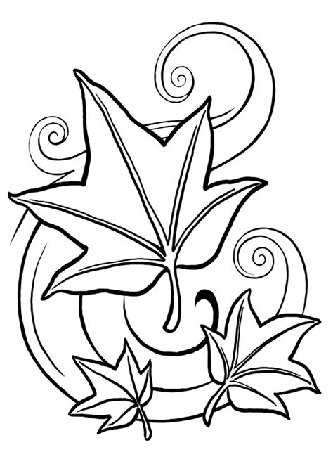 hojas de otono coloring pages free coloring pages of oto