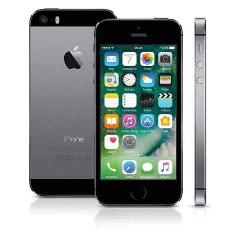 I Phone 5s 16gb iphone 5s space gray 16gb me432br a apple telefonia