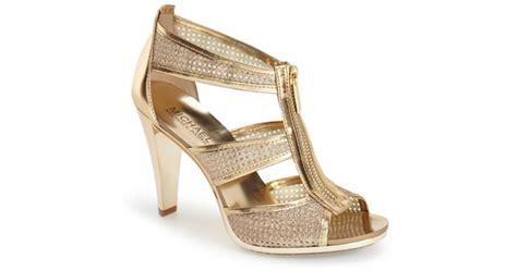 michael kors berkley t sandal michael michael kors berkley t sandal in gold