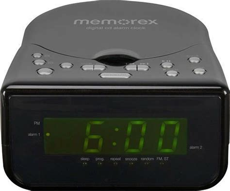 memorex alarm clock cd cd r cd rw mc7223 am fm radio stereo aux line in for mp3 ebay