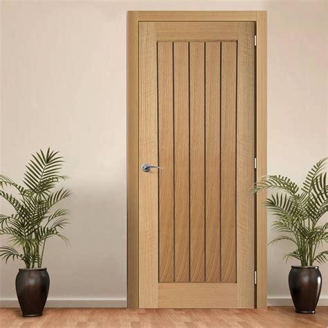 Interior Door Lining Mexicano Oak Door With Vertical Lining Traditional Interior Doors