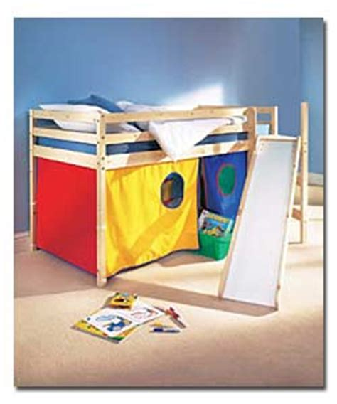 Shorty Mid Sleeper Bed With Tent by Shorty Mid Sleeper With Tent And Slide Baby Cots And Cot