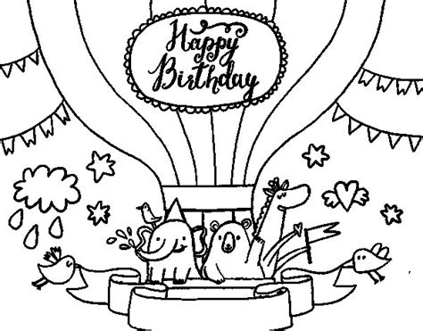 tarjetas de cumplea os para colorear e imprimir az dibujos para dibujo de tarjeta de feliz cumplea 241 os para colorear