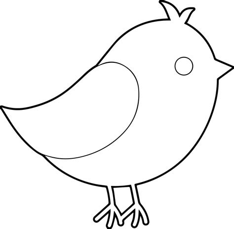 simple bird coloring page draw simple bird drawings nocturnal
