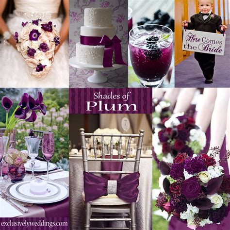 Plum Wedding Color ? Four Fantastic Choices   Exclusively