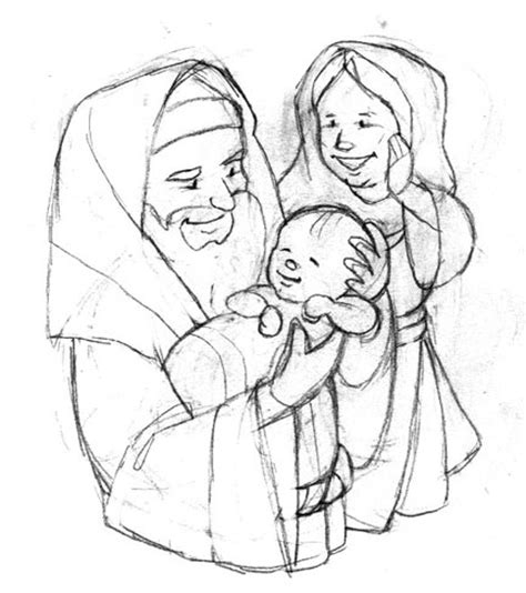 simeon and anna craft sketch coloring page