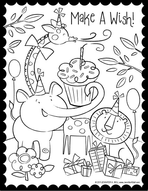 coloring page for a birthday happy birthday color pages az coloring pages