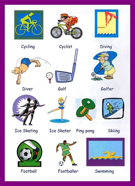 Sports Vocabulary Worksheet by Printable Worksheets