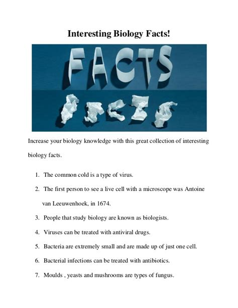 interesting biology facts