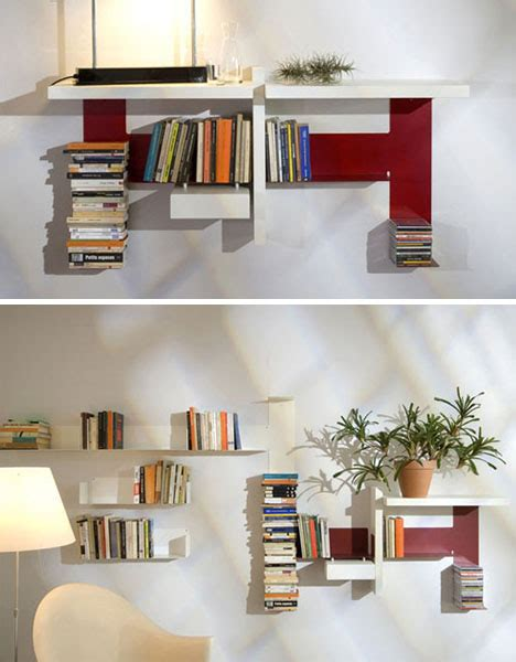 diy invisible shelf meets abstract modern