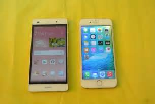 huawei p8 lite vs iphone 6 comparison hd