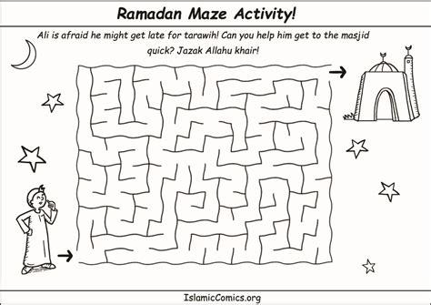 word search ramadan printable ramadan maze activity sheet islamic comics