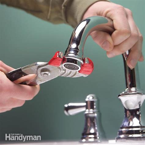 where is the aerator on a kitchen faucet how to clean and repair a clogged faucet the family handyman