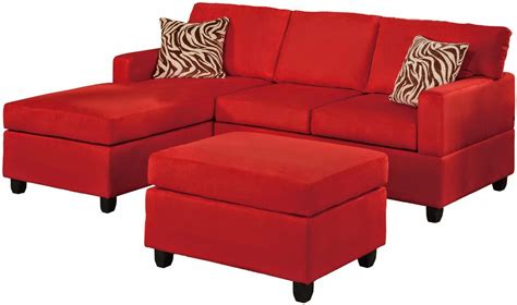 Microfiber Sectional With Chaise Red Couch