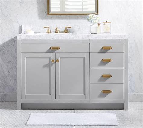 single sink vanity with drawers davis asymmetric single sink vanity with drawers pottery