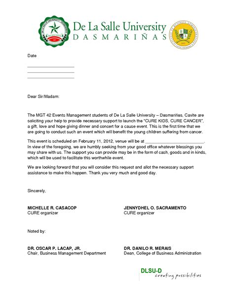 Sponsorship Letter To Company sle of sponsor basketball solicitation letter