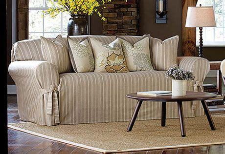 white linen sofa australia sure fit slipcovers grain sack stripe one slipcovers