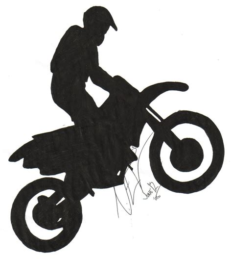 Drawing Simple Dirt Bikes Clipart Best