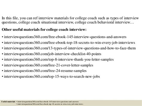 Or Questions College Top 10 College Coach Questions And Answers