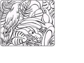 jungle scene coloring pages coloring