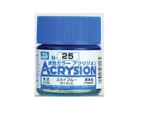 Acrysion N 25 Sky Blue Model Kit Gundam mr hobby gsi n25 acrysion acrylic gloss sky blue 10ml