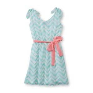 Holiday editions girl s sleeveless chiffon dress chevron striped