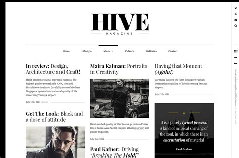 tumblr themes newspaper style hive a magazine style theme wordpress magazine themes
