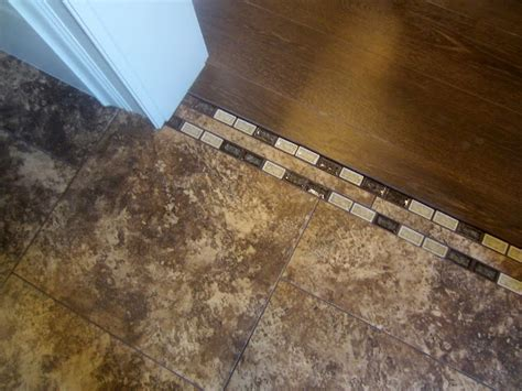 from tile to wood great transition for the home pinterest