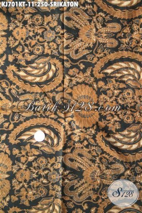 Kain Batik Sogan Jawa Premium 002 kain batik klasik motif srikaton batik jawa etnik kwalitas premium bahan busana berkelas