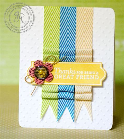 Handmade Cards Using Ribbon - folded ribbon with may arts giveaways
